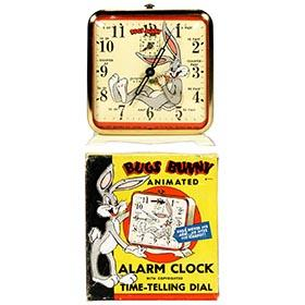 1949 Ingraham, Bugs Bunny Animated Clock in Original Box