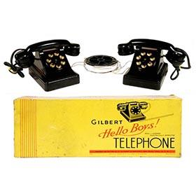1937 A.C. Gilbert, Electric Telephone Set in Original Box