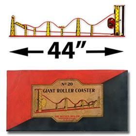 1926 Reeves Mfg., No.20 Giant Roller Coaster in Original Box