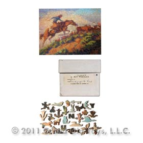 1958 Browning, Rounding Up The Herd 600pc. Puzzle in Original Box