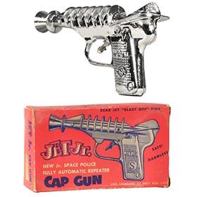 c.1952 J.E. Stevens, Jet Jr. Cap Ray Gun in Original Box