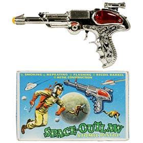 c.1960 B.C.M., Space Outlaw Atomic Pistol in Original Box