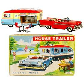 1959 Haji, Ford Fairlane, House Trailer Set in Original Box
