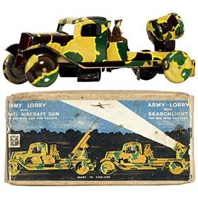 1940 Wells-Brimtoy, Camouflaged Army Lorry in Original Box