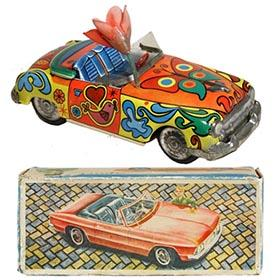 c1965 Saxo, Psychedelic Convertible Car in Original Box
