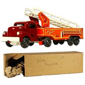 c.1947 H.Wimmer, Bakelite & Tin, Fire Truck in Original Box