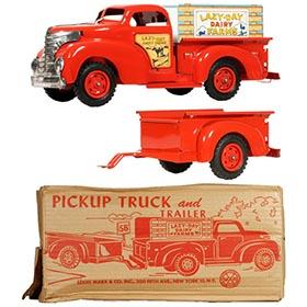 1958 Marx Lazy Day Farm Pick-Up Truck & Trailer in Original Box