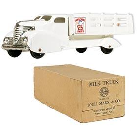 c.1950 Marx, Marcrest Pure Milk Dairy Truck in Original Box