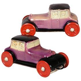 1923 Viscoloid Co., Two Celluloid Roadster Pull Toys