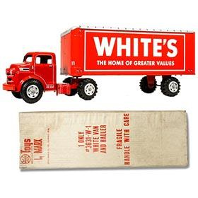 1955 Marx, White's Tractor Trailer Truck in Original Box