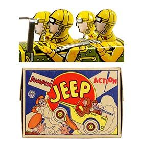 1947 Marx, Jumpin' Jeep in Original Box