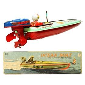 c.1952 Bandai, B-619 Ocean (Speed) Boat in Original Box