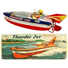 c.1957 Bandai, Thunder Jet Speed Boat in Original Box