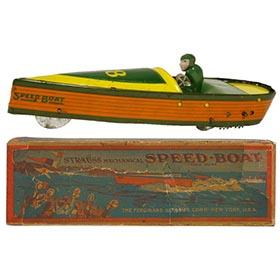 c.1923 Strauss, #28 Mechanical Speed-Boat (1) in Original Box