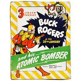 1945 Buck Rogers & His Atomic Bomber Puzzles in Original Box