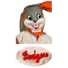 c.1945 Brooklyn Dodgers Bugs Bunny Plush Toy