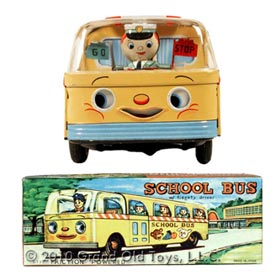 c.1960 School Bus with Fidgety Driver In Original Box