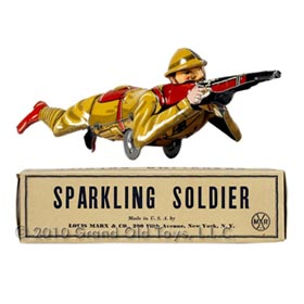 1937 Marx Sparkling Soldier In Original Box