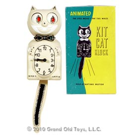 c.1952 Animated Jeweled Kit Cat Klock In Original Box