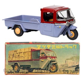 1953 Bandai Mazda 3-Wheel Delivery Truck In Original Box