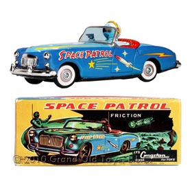 1958 Ichiko, Space Patrol In Original Box