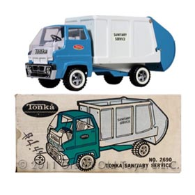 1971 Tonka No. 2690 Sanitary Service Truck In Original Box