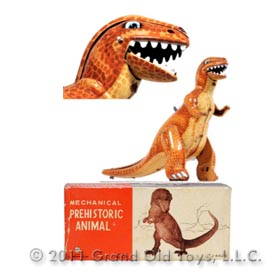 1961 Linemar Mechanical Prehistoric Animal Allosaurus In Original Box