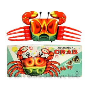 1962 Yonezawa Mechanical Crawling Crab In Original Box