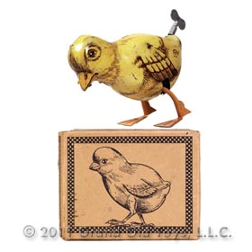c.1932 Chein Mechanical Walking Chicken In Original Box