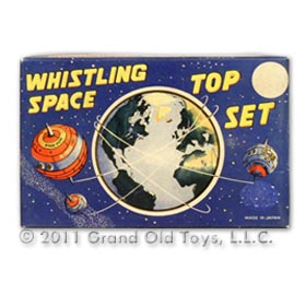 c.1958 Marx Whistling Space Top Set In Original Box