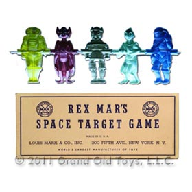 c.1950 Marx Rex Mars Space Target Game In Original Box
