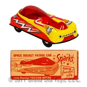 c.1950 Courtland Space Rocket Patrol In Original Box