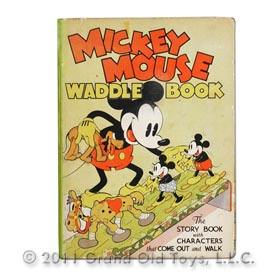 1934 Mickey Mouse Waddle Book Blue Ribbon Books Inc