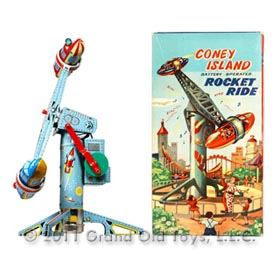 c.1955 Alps, Coney Island Rocket Ride In Original Box