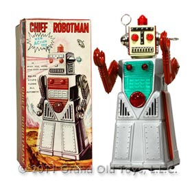 c.1959 Yoshiya Chief Robotman In Original Box
