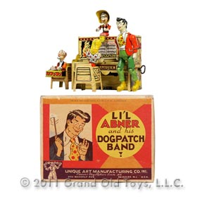 1946 Unique Art Mfg Co., Lil' Abner Band In Original Box