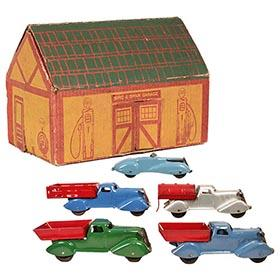 c.1934 Marx, Spic & Span Garage Truck Set in Original Box