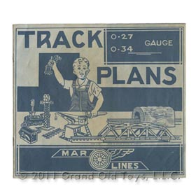1950's Marx Train Track Plans Instructions 5 Orig Forms