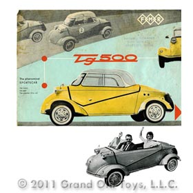 1958 Messerschmitt TG500 Bubble Car, Original 4pg Brochure