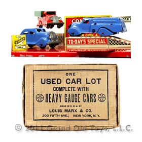 1936 Marx Used Car Lot In Original Box