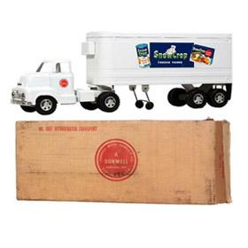 c.1954 Dunwell Snow Crop Refrigerator Truck in Original Box