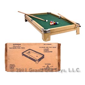 c.1955 Gotham Steel, Streamliner Pool Table In Original Box