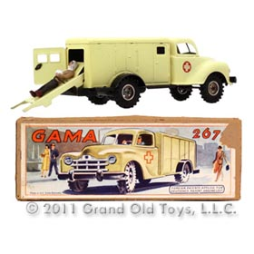 1947 Gama Red Cross Ambulance with Injured Man In Original Box
