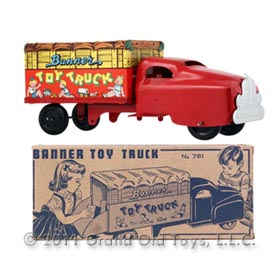 1951 Banner No 781 Toy Truck In Original Box