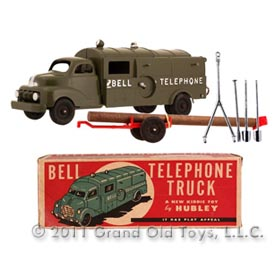 c.1951 Hubley Large Bell Telephone Truck In Original Box