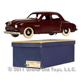 1948 CIJ Renault Lafregate Clockwork Sedan In Original Box