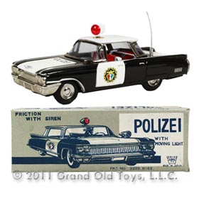 1960 Ichiko Cadillac 4dr Polizei Car In Original Box