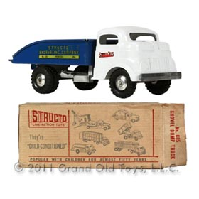 1953 Structo No 605 Shovel Dump Truck In Original Box