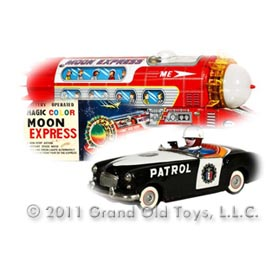 c.1958 Ichiko Highway Patrol Car & c.1970 TPS Magic Express With Original Box
