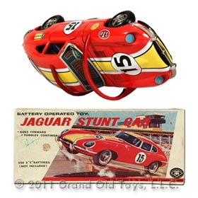 c.1961 Masudaya Acrobatic Jaguar Stunt Car In Original Box